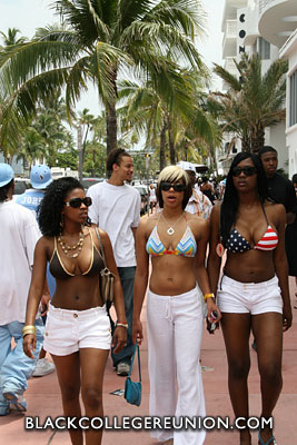 Group of ladies walking on Ocean Drive
