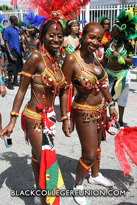 wo pretty ladies representing the islands!
