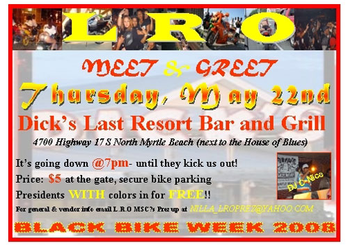 Black Bike Week 2008 Meet & Greet Party