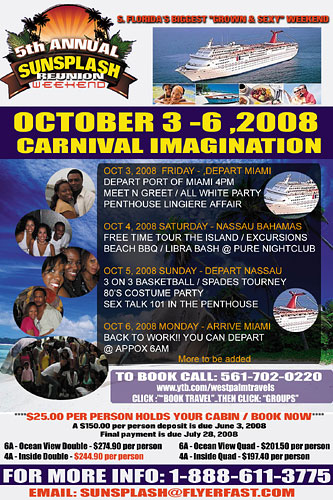5th Annual SunSplash Reunion Weekend - Oct. 3-6, 2008