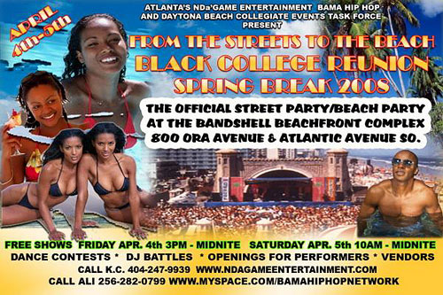 BCR Spring Break Events Flyers
