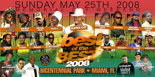 Best Of The Best Concert - Bicentennial Park - May 25, 2008